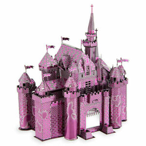 Disney Parks Sleeping Beauty Castle Pink Color Metal Earth 3D Model Kit  NEW