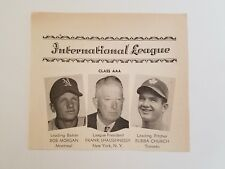 Bobby Morgan Montreal Royals Bubba Church Toronto Maple Leafs 1950 SNews Panel