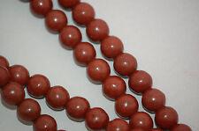 6mm Howlite Stone Beads ROUND Ball CHOCOLATE BROWN how0217
