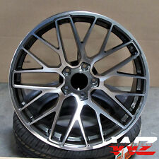 "22"" Gunmetal Wheels Rims Fits Porsche GTS S Turbo VW Touareg Audi Q7 5x130"