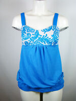 Lululemon Bra Tank Top NO LIMITS Laceoflage Size 6 Beaming Blue Floral