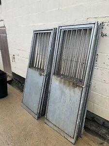 galvanised dog run panels