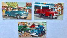 Vintage Chevrolet 1950s  Truck Postcards (3) Model 3104 Pickup Model 4409 Stake