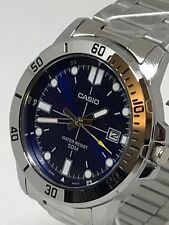 Casio MTP-VD01D-2EV 45mm 5 BAR, blue sunburst dial, luminous hands