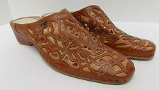 Pikolinos Spanish Design Womens Low Heel Mules Brown Leather Size 10.5-11