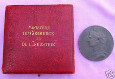 RARE Antique France Ministry Gov't Sterling Silver Medal Coin 1913 Original Case