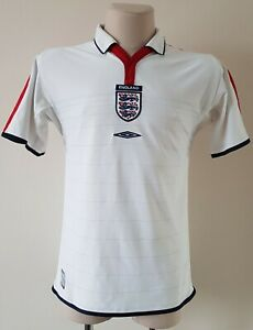 England 2003 - 2004 Home football Umbro shirt size S