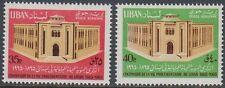 Libanon Lebanon 1965 ** Mi.922/23 Bauwerke Buildings Parlament Parliament Beirut