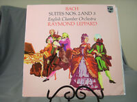 """Bach Suites 2+3 English Chamber Orchestra Raymond Leppard 12"""" Vinyl LP Classical"""
