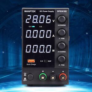 0-10A 0-30V Adjustable Switch DC Power Supply 4 Digital Display DPS3010U Power