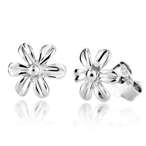 925 Sterling Silver Cute Daisy Bead Stud Earrings Womens Girls Jewellery New UK