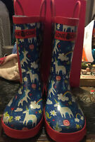 Lonecone Rain Boots With Easy-On Handles In Fun Patterns  Unicorns