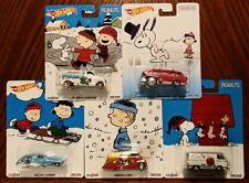Peanuts Complete Set of 5 - Hot Wheels Pop Culture (2016)