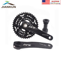 MTB Bike Crankset 104/64mm BCD 24/32/42T 3x10S Triple Speed Chainring Crank BB