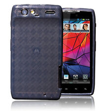 Black TPU Soft Gel Skin Cover Case For Motoroal Droid RAZR/XT910