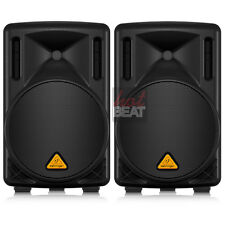 "2 x Behringer B210D 10"" Powered PA Speaker System Compact Stage Monitor MINT"