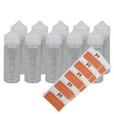 10 x 120ml PET-Stiftflaschen inkl. 10 Etiketten - Liquidflaschen