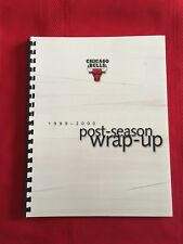 1999-2000 NBA Chicago Bulls Season In Review media guide / Artist / Brand