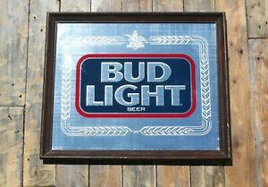 Vintage Bud Light Pub/Advertising Mirror 55x46cm