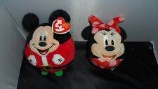 Disney Mickey Mouse Ty Beanie Ballz & Minnie Hallmark  Plush Stuffed Toy Ball