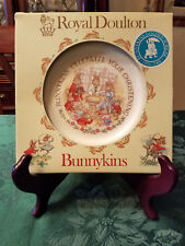 "Royal Doulton Bunnykins Christening Plate ""New"" Golden Jubilee Edition"