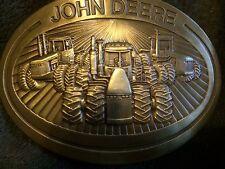 "Vintage JOHN DEERE Belt Buckle 1981 Made in USA Maximum Belt Width 1.80"" inches"