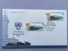Ceylon - World Maritime Day 2015 Ship & Light House Mint First Day Cover