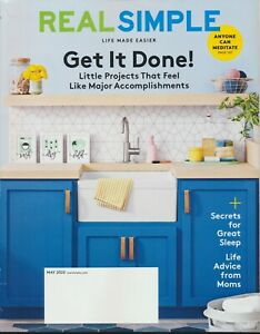 REAL SIMPLE Magazine May 2020 Issue New Unread Get it Done Little Projects