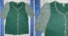 Markenlose Kurzarm Damen-Trachtenblusen in Größe 46
