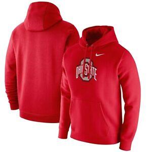 Ohio State Buckeyes Mens Nike Club Logo Hoodie Sweatshirt - Large - NWT