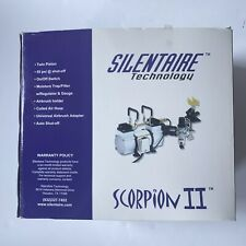 Silentaire Technology Scorpion Ii W Air Compressor Twin Piston Auto Shut Off