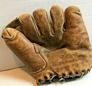 Vtg Dubow Baseball Mitt Kiki Cuyler 396 Glove Rare Brooklyn Dodgers Chicago Cubs