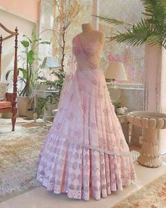 Lehenga Choli Indian Wedding Bridal Women Bollywood Party Wear Designer Blouse