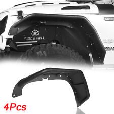 High Strength Steel Front & Rear Tube Fender Flares For Jeep Wrangler JK 07-18