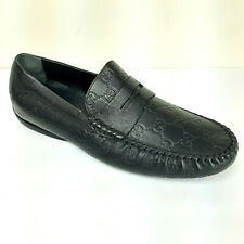 NEW Gucci Black Leather Penny Loafer Monogram Amputee Right ONE SHOE Guccissima