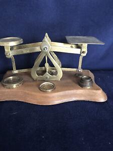 Vintage Brass Postal Scales & Weights