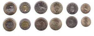 Hungary __- set 6 coins 5 10 20 50 100 200 Forint 2018 - 2019 UNC Lemberg-Zp
