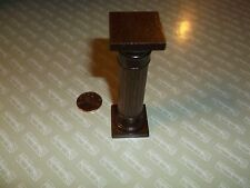 "Dollhouse Miniatures Mini Wood Pedestal Pillar R L Carlisle Great Condition 3"" H"