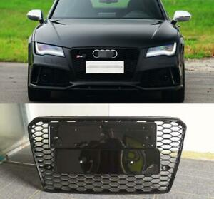 For Audi A7 S7 RS7 Style 2011-2014 Front black Grille Upper Honeycomb Mesh Grill