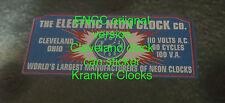 ENCC electric neon clock cleveland original version can sticker re make new