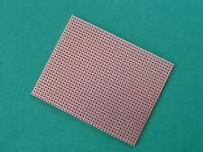 PLAQUE CIRCUIT IMPRIME . Plaque d'essai  à bandes . 80 X 100 mm.