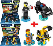 Lego Dimensions Lego Movie fun Packs Bad cop + Emmet New sealed