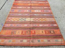 Antique Turkish Kilim Rug shabby vintage old wool country home Kelim 206x142cm