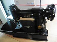Vintage Singer 221 Featherweight Sewing Machine + Case , Sews Good