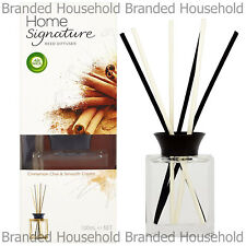 Air Wick Home Signature Reed Diffuser Sticks Cinnamon Chai & Smooth Cream 100ml