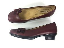 Softspots Burgundy Leather Side Flower Mary Jane US Womens 9N EUR 40
