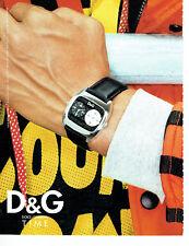 Publicité Advertising 088  2003    montre homme  Dolce & Gabbana
