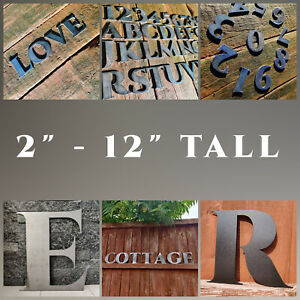 """Letters House Numbers Metal Sign Wall Wording Sizes 2""""  to 12"""" Tall Home Garden"""