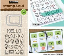 Hero Arts Stamp & Cut - Speech Bubbles Stamps