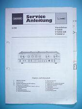 Service Manual-Anleitung für Grundig V 5000  ,ORIGINAL